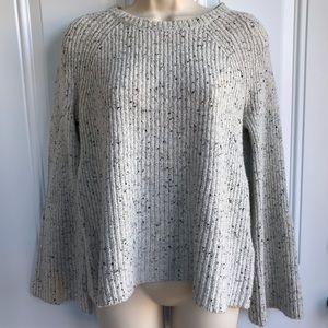 Joie Paden Wool Blend Bell Sleeve Sweater EUC